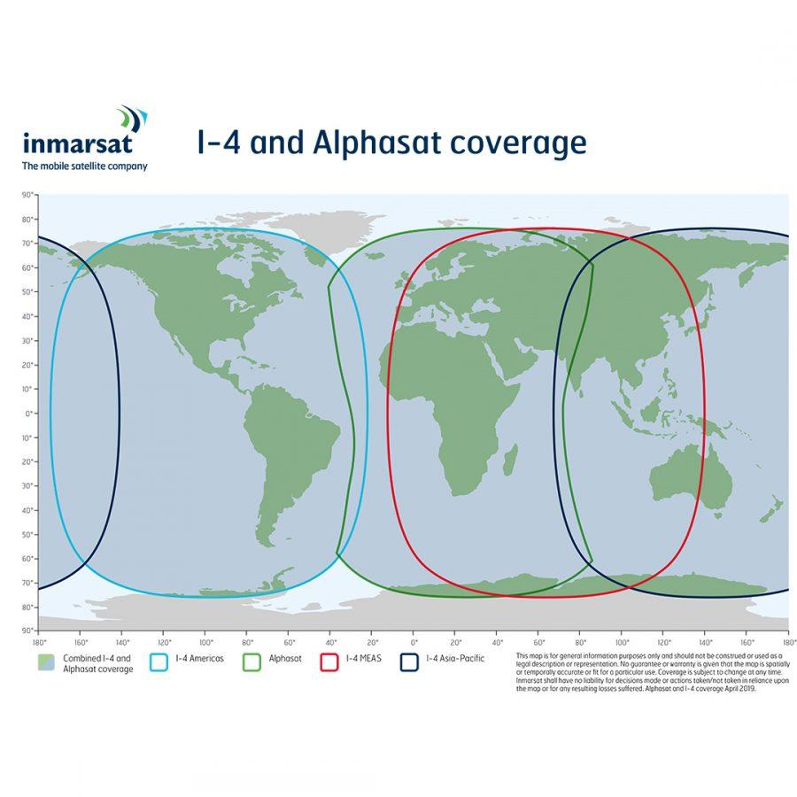 Netzabdeckung Inmarsat 1-4 und Alphasat